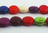 Colorful Rainbow Turquoise Button Beads